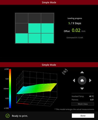 Raise3D E3 Automatische Kalibrierung