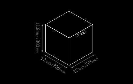 Raise3D Pro2 Bauraum